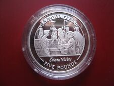 Gibraltar 2005 £5 Pounds Silver Proof Crown Coin A Royal Year State Visits
