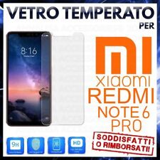 Pellicola in VETRO TEMPERATO per XIAOMI REDMI NOTE 6 PRO Proteggi Schermo LCD