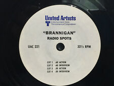 Radio Spot 7 Inch Vinyl Record 33RPM - Brannigan 1975  John Wayne  NONE EXIST