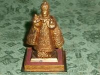 Small Vintage Cast Metal Infant of Prague Statue