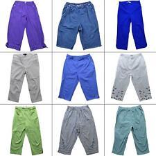 """Lot 9 Womens Casual Capris Cropped Pants Size 10 30"""" Waist Denim Purple Blue Tan"""