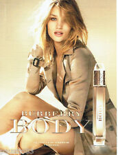 PUBLICITE ADVERTISING 096  2012  Burberry  nouveau parfum feminin Body