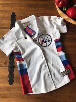 Nwt Vintage Hardwood Classics Philadelphia 76ers Sixers Shirt Embroidered XS NBA
