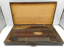 Alte Zither Mandolin Zupfinstrument & Holzkoffer ~ 1940/50/60 Jahre