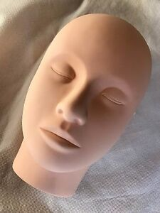 Practice Mannequin Manikin Head Eyelashes Makeup Massage Practice