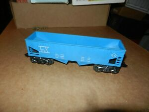 MARX  #21913 Lehigh Valley Hopper Car, Blue,  8 Wheel, Plastic,  Original
