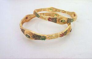 Indian Traditional Kundan Gold Plated Designer Bridal Fashion Jewelry Bangles