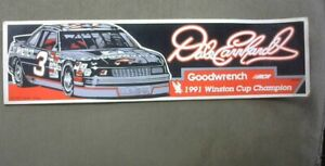 Vtg 1992 Dale Earnhardt Sr #3 GOODWRENCH Bumper Sticker Decal WINSTON CUP CHAMP