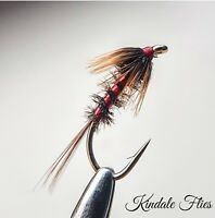 Red Holo Cruncher size 14 (Set of 3) Fly Fishing Flies Trout buzzers Peacock Her