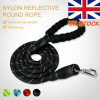 5FT Dog Leash Braided Rope Pet Leads Strong Soft for Medium Large Dogs Walk UK Y