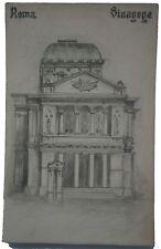 JUDAICA Italy SYNAGOGUE Rome Italian JUDAISM Roma Sinagoga JEWISH Postcard RARE