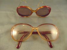2 Vtg Viennaline sun & eye glasses lady's frames made Austria classic design