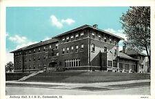 1940s Printed Postcard; Anthony Hall, S.I.N.U., Carbondale IL Jackson County