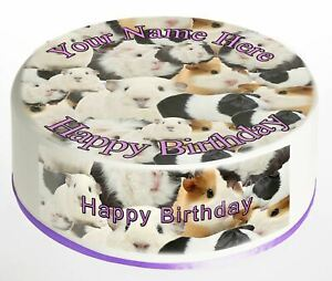 Cake Topper Birthday Guinea Pig personalised Rice paper,Icing fondant Sheets 811