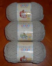 Bernat Baby Blanket Yarn Lot Of 3 Skeins (Baby Dove #03046) 3.5 oz Skeins