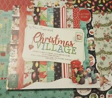 "sample craft paper 150gsm scrapbooking "" Christmas Village "" design"