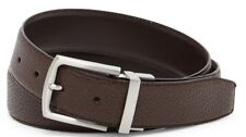 Cole Haan Men's Reversible Pebbled to Smooth Leather Belt Brown Size 38