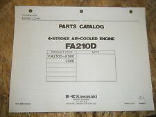 KAWASAKI 4 STROKE AIR COOLED ENGINE FACTORY PARTS CATALOG FA210D-KS00 L MANUAL