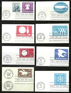 US Stamped Envelope Cut Squares Assorted Lot of 14 First Day of Issue Postmarks