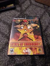 PS2 State of Emergency Sony PlayStation 2, 2003 Black Label Complete & Tested M