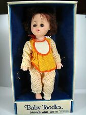 "Creepy Halloween Baby Prop 15"" 1979 Toddles Sleepy Eyes Baby Girl Doll - Uneeda"