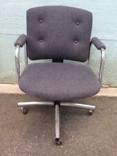 GRAY OFFICE CHAIR modern ONE of TWO swivel 360 tufted cloth DELIVERY SERVICE