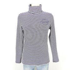 SOCCX Rollkragen Shirt Streifen Blau Gr. S 36