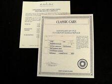 Danbury Mint Paperwork Set - 1936 Ford Deluxe Cabriolet - Washington Blue