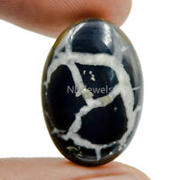 Cts. 15.15 Natural Spider Web Septarian Gronate Cabochon Oval Cab Loose Gemstone
