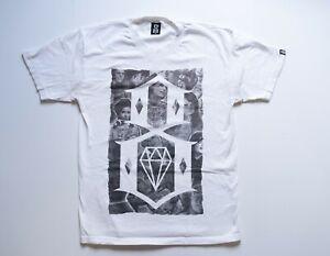 REBEL 8 T Shirt Men's Large White Short Sleeve Tee Streetwear Rebel8 Adult