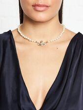 Relief Pearl Choker Necklace Vivienne Westwood Mini Bias