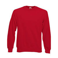 Pull sweat homme manches longues raglan FRUIT OF THE LOOM  COULEUR ROUGE