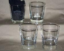 Jack Daniel's / 10 Oz / Square Base Old Nº 7 Brand Whiskey Bar Glass / Set of 4