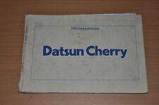 DATSUN Cherry 1981 Nissan Motor BA Bedienungsanleitung Betriebsanleitung