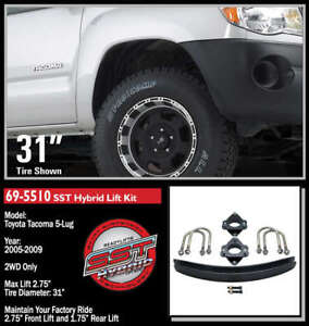 "ReadyLift SST Lift Kit for 05+ Toyota Tacoma 5 Lug 2WD 2.75"" F/1.75"" R 69-5510"