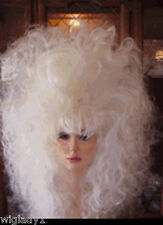 SIN CITY WIGS LONG WAVY WHITE TEASED FLUFFY VOLUME BIG 80S HAIR DRAG QUEEN HOT