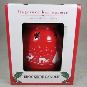 SONOMA BROOKSIDE CANDLE Fragrance Bar Warmer Holiday Christmas Red Scene NEW