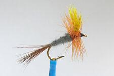 10 x Mouche Sèche HENDRICKSON DARK H12/14/16 mosca fly fliegen truite peche
