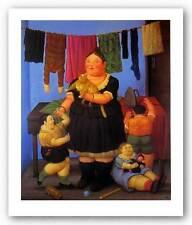 FIGURATIVE ART PRINT The Widow Fernando Botero