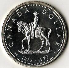 Canada 1973 Large Silver Specimen $1-Mountie on horseback
