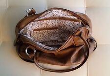 Guess Handbag Satchel Brown Large