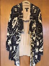"INC INT""L & STYLE & CO COWL NECK TOP & OPEN FRONT ABSTRACT PRINT JACKET IN LG/XL"
