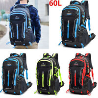 60L Large Waterproof Backpack Rucksack Hiking Camping Travel Bag Outdoor Bag