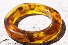Rounded Bangle amber style bracelet!. Free USA shipping! Size 65mm.xx