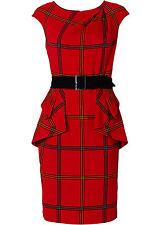 Damen Kleid,Etuikleid, rot kariert,Gr.32, NEU