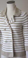 Old Navy Blazer Sweater Cardigan Size S Taupe Beige /White striped