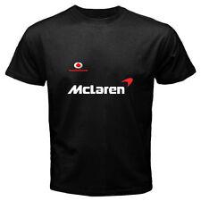 Vodafone Mclaren Car Automotive Sport Black T-Shirt Men or Women Distro