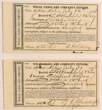 Two Montana Wells Fargo Gold Dust Receipts Lot 3268