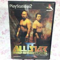 USED PS2 PlayStation2 ALL STAR PRO-WRESTLING II 08063 Japan Import
