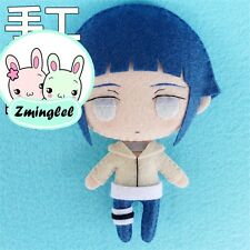 New Cute Anime Naruto Hyūga Hinata Diy Toy Keychain Bag Material Plush Doll 2017